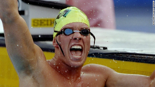 O'Neill also won gold at Atlanta 1996 along with Kieren Perkins, who was Australia's sole swimming victor four years earlier in Barcelona (pictured).
