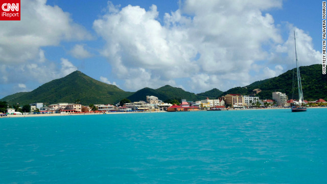 "For a Columbus Day weekend getaway, Neslyn Talavera Monroig and her husband flew to St. Maarten. The beaches stood out to her for the ""beautiful turquoise-blue waters and how tranquil the water was every single day."""