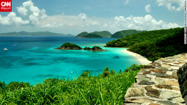 Trunk Bay in the U.S. Virgin Islands reminds Michele Kontaxes Naurock of her wedding day. She and her spouse celebrate their anniversary by making return trips to this beach. The memories and its &quot;untouched beauty ... and the beautiful clear blue waters&quot; make it a special place to her.
