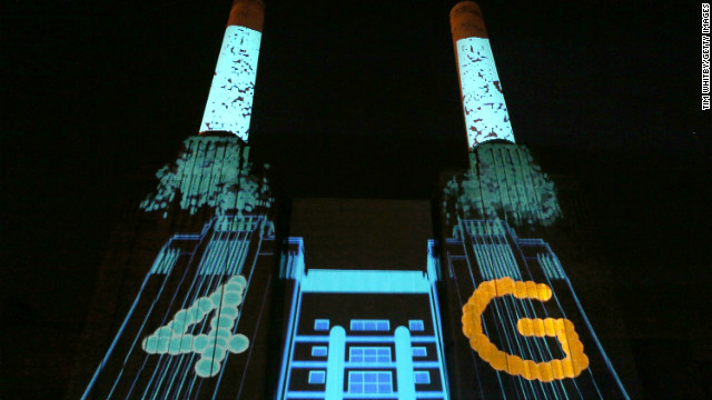 The launch of EE, Britain's first 4G mobile network, at Battersea Power station on November 1, 2012 in London, England.
