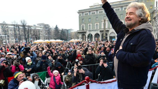 The surprise of the campaign has been ex-comedian Beppe Grillo, head of the populist anti-establishment Five Star Movement, which has won support among those critical of Mario Monti's austerity policies.