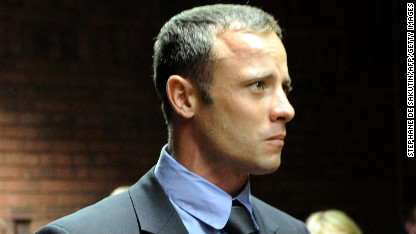 South African Olympic sprinter Oscar Pistorius at the Magistrate Court in Pretoria on Tuesday, February 19.