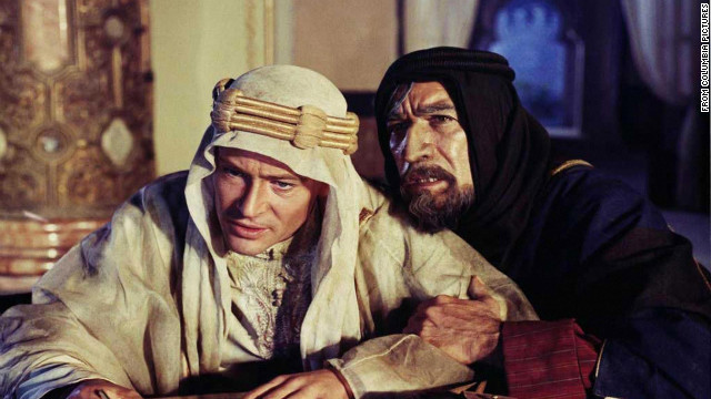 """Lawrence of Arabia,"" starring Peter O'Toole, left, tells the story of British military figure T.E. Lawrence's World War I exploits."