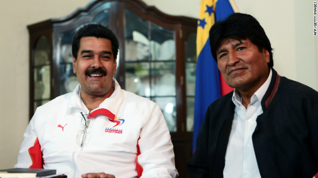 Evo Morales llega a Venezuela para visitar a Hugo Chvez
