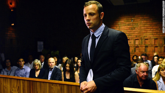 Oscar Pistorius enters court on the second day of his bail hearing at Pretoria Magistrates Court on Wednesday.