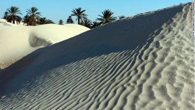 The Sahara is the world's largest desert, measuring approximately 3,000 miles from east to west and between 800 and 1,200 miles from north to south. 
