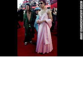 """South Park"" creators Trey Parker, left, and Matt Stone showed up at the 2000 awards show dressed as Jennifer Lopez at the 42nd Grammy Award and Gwyneth Paltrow at the 1999 Oscars. The men eventually <a href='http://www.washingtonpost.com/blogs/celebritology/post/matt-stone-and-trey-parker-were-on-drugs-when-they-wore-dresses-to-the-oscars-video/2011/09/30/gIQA2h4iAL_blog.html' target='_blank'>told Jimmy Kimmel</a> that they were on acid while walking the red carpet."