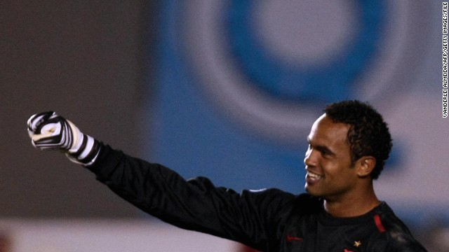 Bruno Fernandes das Dores de Souza, a former goalie for the Brazilian soccer club Flamengo, was convicted in the murder of his ex-girlfriend, a court said in March 2013. He was sentenced to 22 years and three months for the murder of Eliza Samudio, who had disappeared in 2010. Souza, his lover and his ex-wife were among nine people charged with torturing and murdering Samudio, who had been trying to prove Souza had fathered her son.