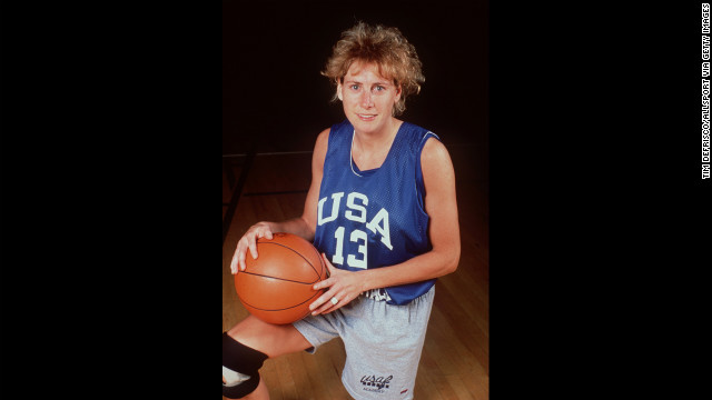 Nancy Lieberman poses for a portrait in the 1990s while playing for the women's U.S. national basketball team. In June 1986, she became the first woman to play men's professional basketball with her United States Basketball League debut in Springfield, Massachusetts.