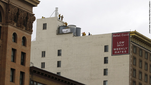 How did woman's body come to be in L.A. hotel water tank?