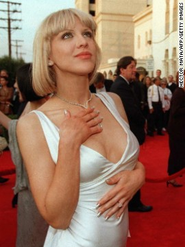"Courtney Love didn't have a strand of hair out of place when she attended the Oscars in 1997 wearing a white satin Versace gown. Of course, grunge won out in the end. ""The People vs. Larry Flynt"" actress's more polished style was short lived."
