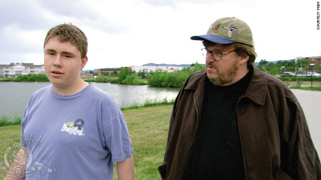 Director Michael Moore won an Oscar for Best Documentary for his 2002 movie &quot;Bowling for Columbine,&quot; which dealt with guns in America after the tragic shooting.