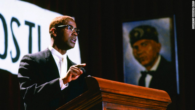 "Denzel Washington starred as the iconic civil rights leader in the 1992 film ""Malcolm X,"" which studied the troubled racial history of America."