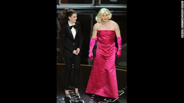 "Anne Hathaway and James Franco are two of the most <a href='http://marquee.blogs.cnn.com/2011/02/28/oscars-the-bomb-heard-round-the-internet/'>awkward </a>hosts in the history of the Academy Awards. Hathaway got flak for trying too hard, while Franco was criticized for having his head in the clouds. ""The worst Oscarcast I've seen, and I go back awhile,"" Roger Ebert tweeted. ""Some great winners, a nice distribution of awards, but the show? Dead. In. The. Water."""