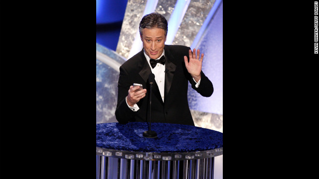 "Two-time host Jon Stewart was entertaining as ever when he took the stage in 2008 after the <a href='http://www.latimes.com/news/la-fi-strike13feb13,0,1808341.story' target='_blank'>Hollywood writers strike</a> had come to an end. With best picture nominees such as ""There Will Be Blood"" and ""No Country for Old Men"" (which won best picture), <a href='http://www.youtube.com/watch?v=eseTSTeF_jE' target='_blank'>Stewart joked</a>, ""Does this town need a hug?"" Referencing another contender, ""Juno,"" Stewart added, ""All I can say is thank God for teen pregnancy."""