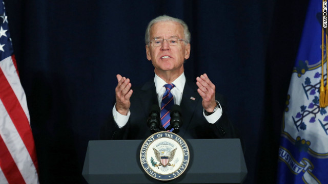 Forget about 'political survival' in gun debate, Biden says