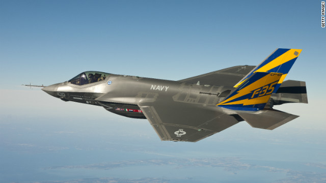 In this image released by the U.S. Navy courtesy of Lockheed Martin, the Navy variant of the F-35 Joint Strike Fighter, the F-35C, conducts a test flight February 11, 2011 over Chesapeake Bay.