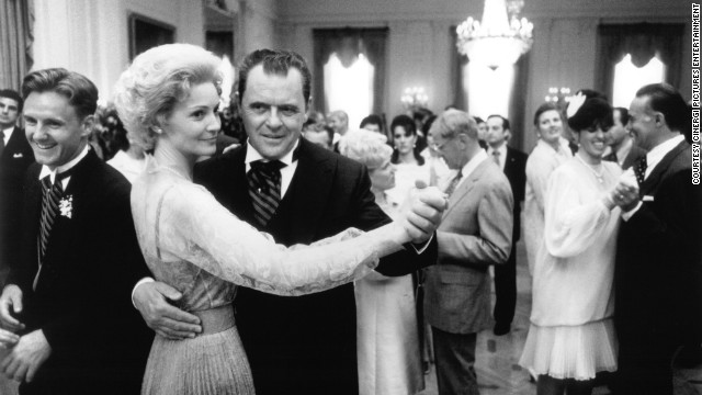 Anthony Hopkins and Joan Allen played Richard and Pat Nixon in the 1995 biopic &quot;Nixon.&quot;