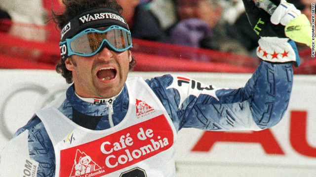 Alberto Tomba signed off his career in style with his 50th World Cup win in the World Cup Finals at Crans Montana in 1998.