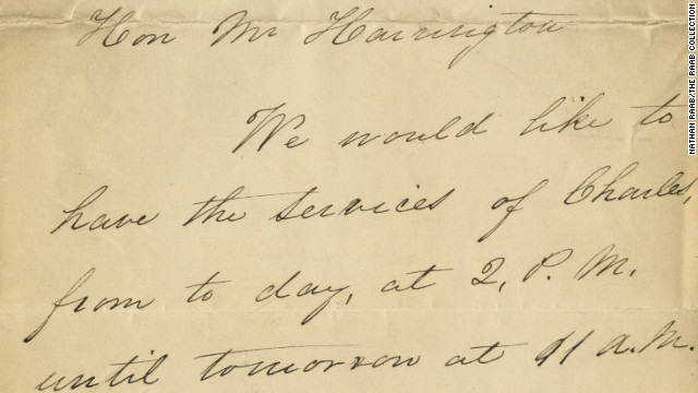 A newly published letter from Mary Todd Lincoln requesting child care for son, Tad. 