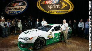 Waltrip\'s special edition car pays tribute to the victims of the Newtown, Connecticut, school shooting.