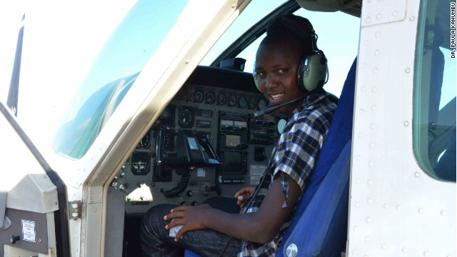 "Richard says he wants to work in aviation when he grows up. ""Three years ago when I was in the savannah herding my father's cattle I used to see the planes flying over and landing at the airport and I was like, one day I'll be a pilot and an aircraft engineer,"" he says."