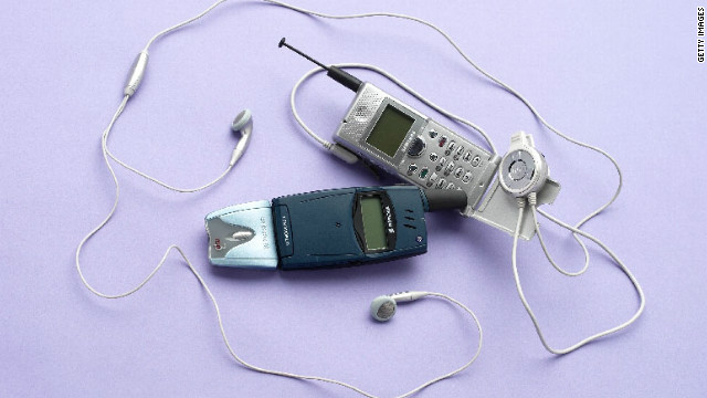 This image from 2000 shows the Ericsson MP3 Handsfree and the Samsung Uproar MP3 Phone. Cute idea, making a telephone that also lets you listen to your music. Too bad it never caught on.