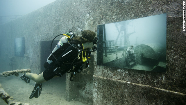 """One of the cool things with an underwater gallery is you're floating, so you can see the artworks from so many different angles,"" Franke said."