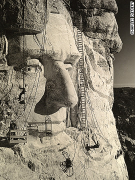 Emancipating Abraham Lincoln from the granite of Mount Rushmore suggests we share the same petroglyphic impulses as ancient civilizations.