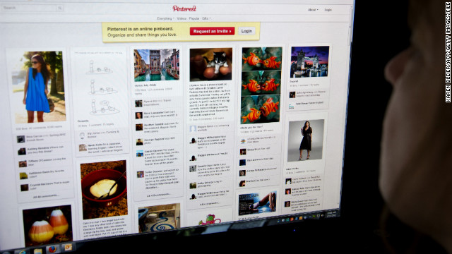 Pinterest's virtual bulletin boards made it the Internet's hottest young website in 2012.