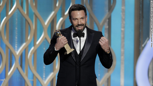 Affleck accepts the award for best director for &quot;Argo&quot; at the Golden Globe Awards on January 13. And the rest is history.