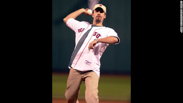The Massachusetts native threw the first pitch at Boston's Fenway Park in 2003.