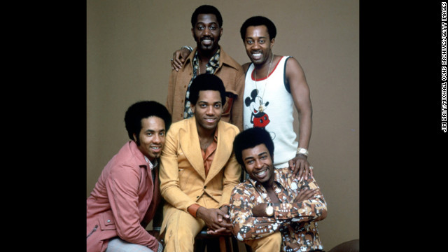 Damon Harris, former member of the Motown group the Temptations, died at age 62 on February 18. Harris, center on the stool, poses for a portrait with fellow members of The Temptations circa 1974.