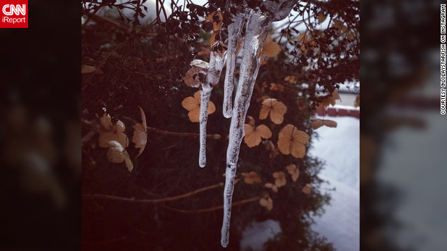 <a href='http://ireport.cnn.com/docs/DOC-932417' target='_blank'>Mette Semb-Lund</a> shares this lovely icicle photo and says it's about finding the beauty in the small things.