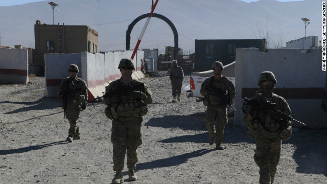 U.S. toops patrol in Wardak province of Afghanistan in 2010.