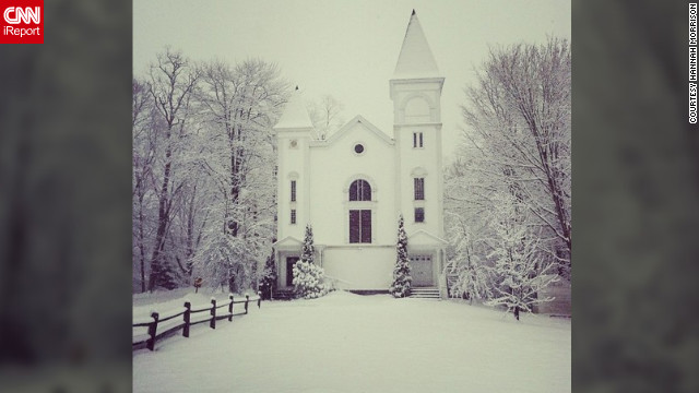 "<a href='http://ireport.cnn.com/docs/DOC-932418' target='_blank'>Hannah Morrison</a> shot this lovely winter scene of an old church in Maine that is now house. ""I took a walk into town this morning and couldn't help but take a photo of it,"" she said."