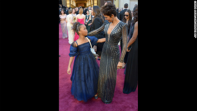 Quvenzhane Wallis and Halle Berry