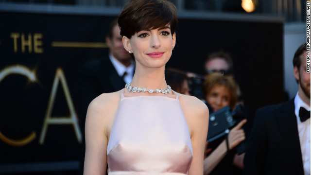 Was it cold on the red carpet, or was it Anne Hathaway?