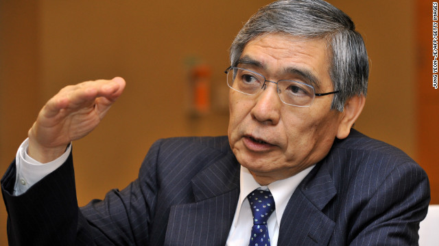 Haruhiko Kuroda unveiled what he called a
