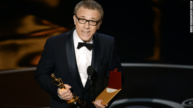 "Christoph Waltz, best supporting actor: ""Django Unchained"" star Christoph Waltz graciously accepted his second Oscar on Sunday night, thanking both the writer-director, Quentin Tarantino, as well as his co-stars. ""We participated in a hero's journey,"" Waltz said, ""the hero here being Quentin."""