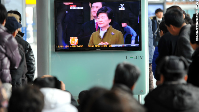 Park Geun-hye becomes South Korea's first female president