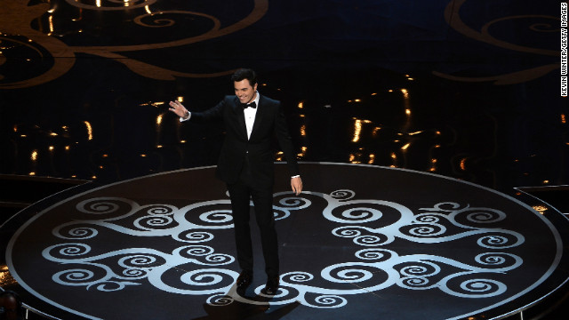 Oscar host Seth MacFarlane opens the show with a few jokes: &quot;The quest to make Tommy Lee Jones laugh begins now&quot; and &quot;It's an honor that everyone else said no (to hosting). From Whoopi Goldberg to Ron Jeremy.&quot;