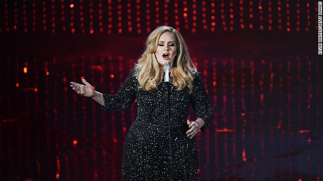 Singer Adele performs at the 2013 Oscars.