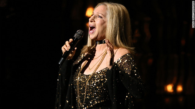 Barbra Streisand performs &quot;Memories&quot; onstage to pay tribute to the late Marvin Hamlisch.