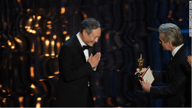 "Ang Lee, best director: Ang Lee accepted his second Oscar for directing as the audience stood on their feet in a standing ovation. ""Thank you movie god,"" Lee said, adding, ""I want to thank you for believing in this story."" He noted that he shares the award with everyone who worked with him on ""Life of Pi."""