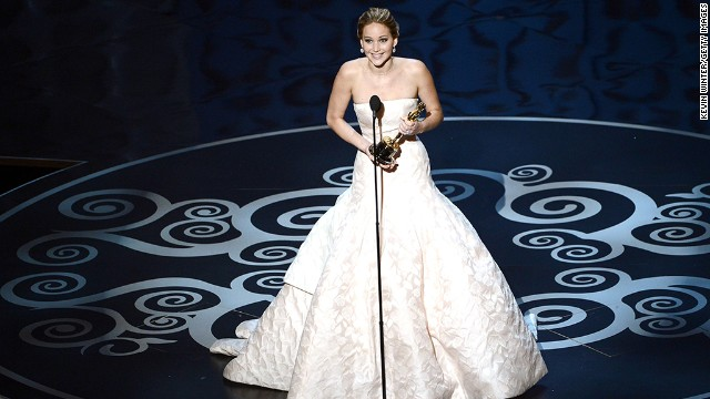 &lt;strong&gt;Jennifer Lawrence, best actress: &lt;/strong&gt;First-time Oscar winner Jennifer Lawrence tripped as she climbed the steps to accept her award, but the &quot;Silver Linings Playbook&quot; star quickly recovered. As she thanked her cast and family, Lawrence was sure to wish fellow best actress nominee Emmanuelle Riva a happy 86th birthday. 