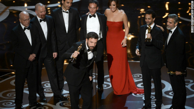 "<strong>""Argo,"" best picture:</strong> Director and producer Ben Affleck joined producers Grant Heslov and George Clooney, as well as the ""Argo"" cast, to accept the award. Heslov was sure to thank Affleck for his directing, after he was not nominated in that category. <a href='http://www.cnn.com/2013/02/24/showbiz/movies/85th-oscars-2013-winners-list/index.html?hpt=en_c2'>See the full list of winners.</a>"