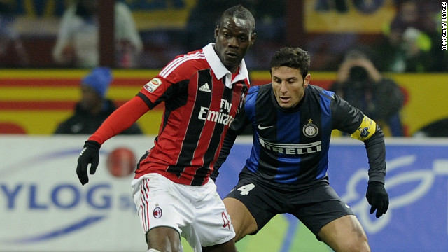 Mario Balotelli could not find his scoring form as AC Milan were held 1-1 by his former club Inter in the San Siro.