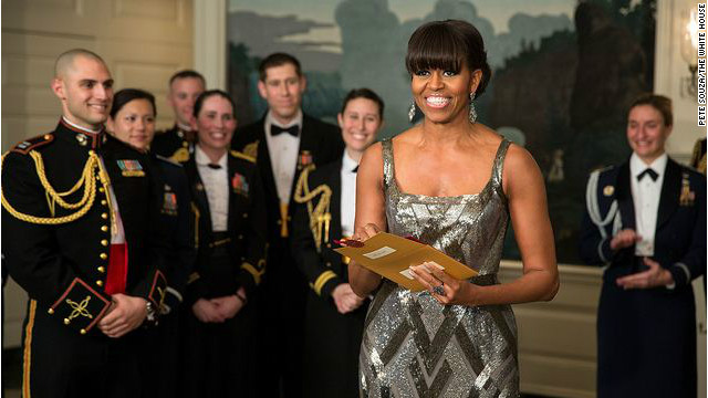 And the biggest surprise of the night goes to...Michelle Obama