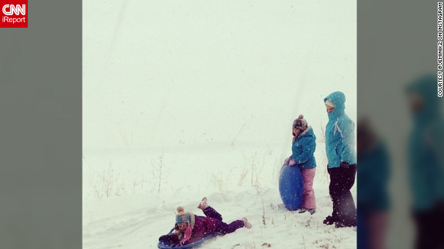 Snow much fun! Instagram user <a href='http://ireport.cnn.com/docs/DOC-932561' target='_blank'>@jeminik2</a> shares this photo of her three daughters enjoying a day of sledding just southeast of Denver, Colorado.